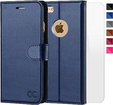 OCASE Funda iPhone 6 Fundas iPhone 6S Slim Case de Estilo Billetera con Protector de Pantalla de Vidrio Templado, Soporte Plegable, Ranuras para Tarjetas y Billetes, Broche Magnético: Amazon.es: Electrónica