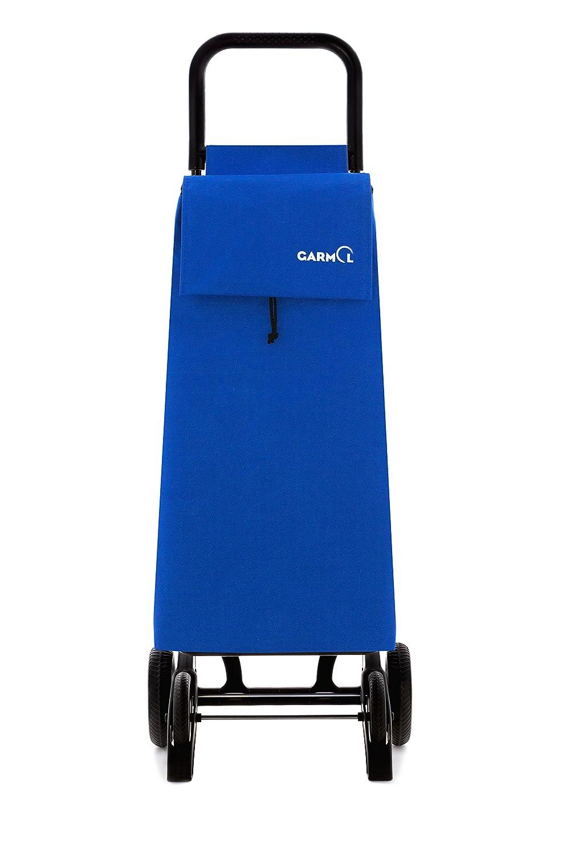 40x15x86 cm Garmol 10GPD PO C6 Carro de Compra 4 Ruedas Plegable y abatible Tela Azulino
