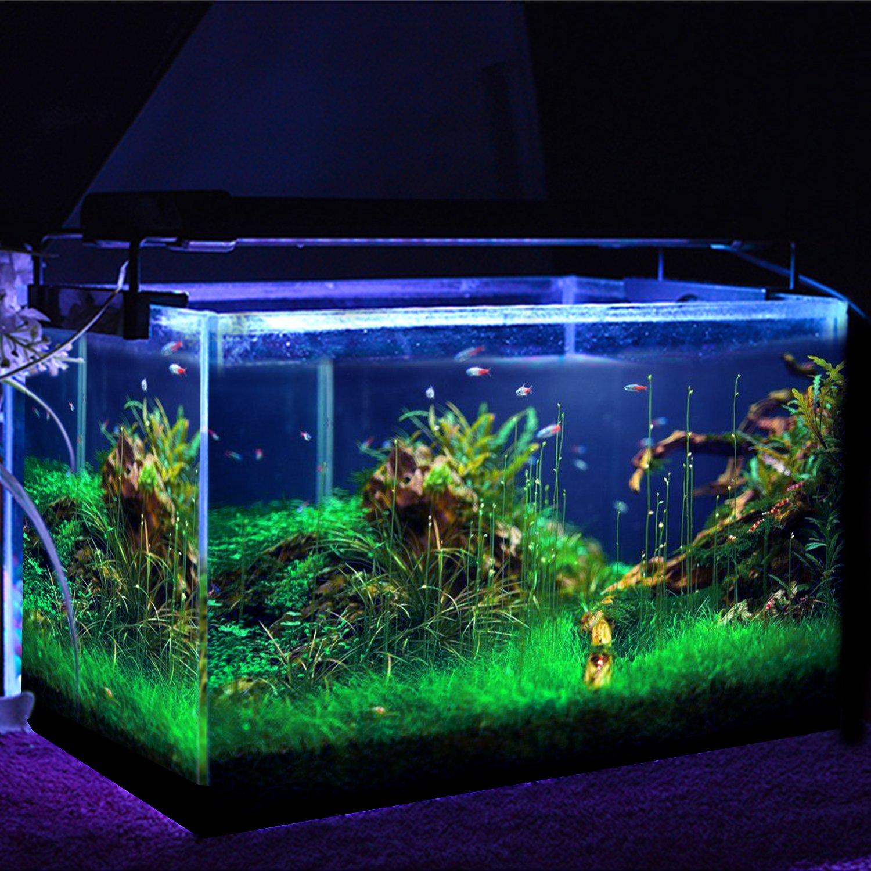 Simbr aquarium beleuchtung lampe led aufsetzleuchte schwarz 30 simbr aquarium beleuchtung lampe led aufsetzleuchte schwarz 30 50cm amazon haustier parisarafo Images