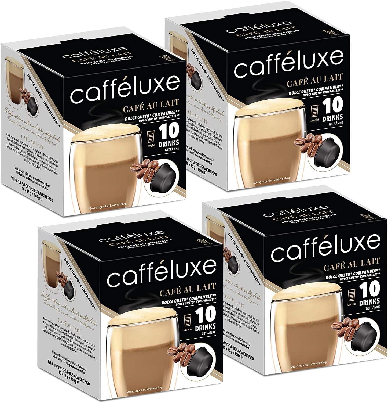 Servicio individual, cápsulas de café Premium Cafe Au Lait ...