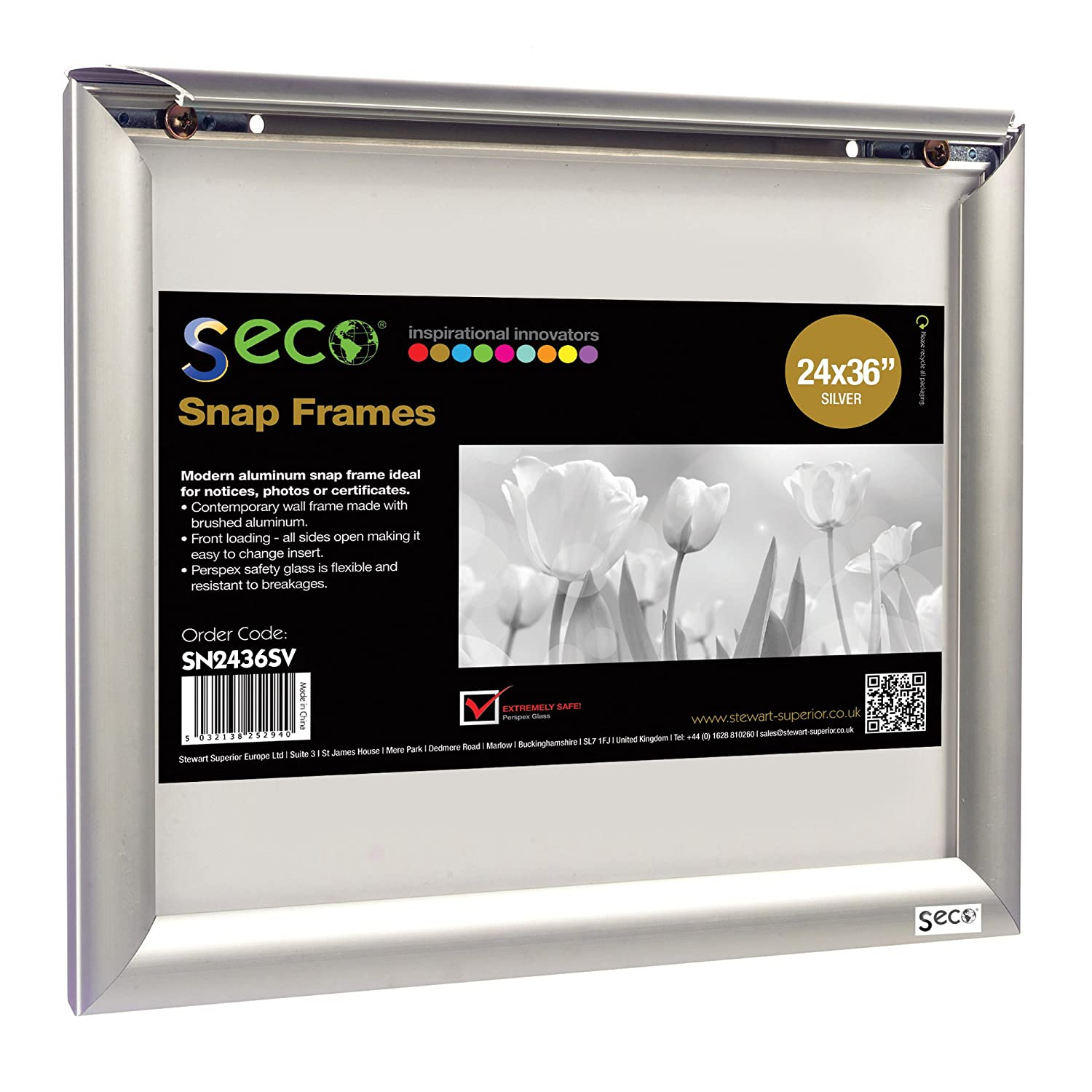 Amazon.com : SECO Front Load Easy Open Snap Frame Poster/Picture ...