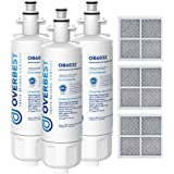 Overbest ADQ36006101 Refrigerator Water Filter, Replacement for LG LT700P, Kenmore 9690, 469690, ADQ36006102, LFXS30766S, RFC