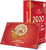 30 COTIER Chinese New Year 2020 Scratch Off Card Game - Year of the Rat Fortune Cards - Fun Activity for Lunar New Year, Happ