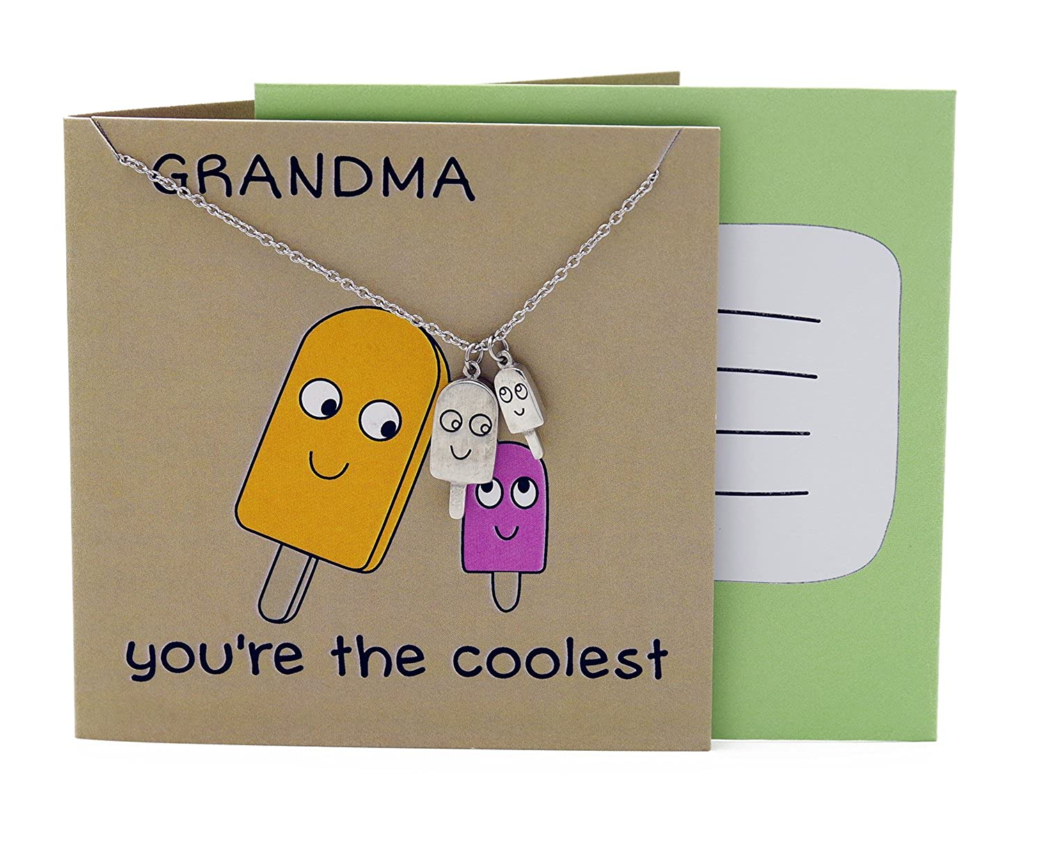 Amazon Quan Jewelry Great Grandma Gifts Popsicle Funny Birthday For Women With Greeting Card