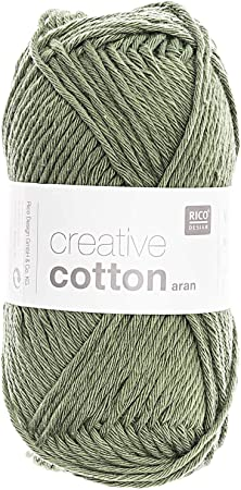 Rico Creative Cotton aran - Ovillo de lana para tejer y ganchillo (algodón 66): Amazon.es: Hogar