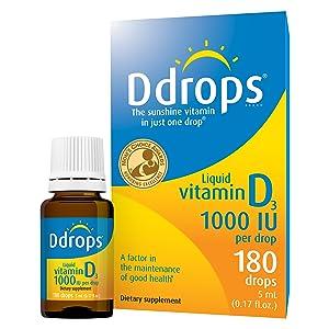 Ddrops 1000IU (5mL), 180-drops Box