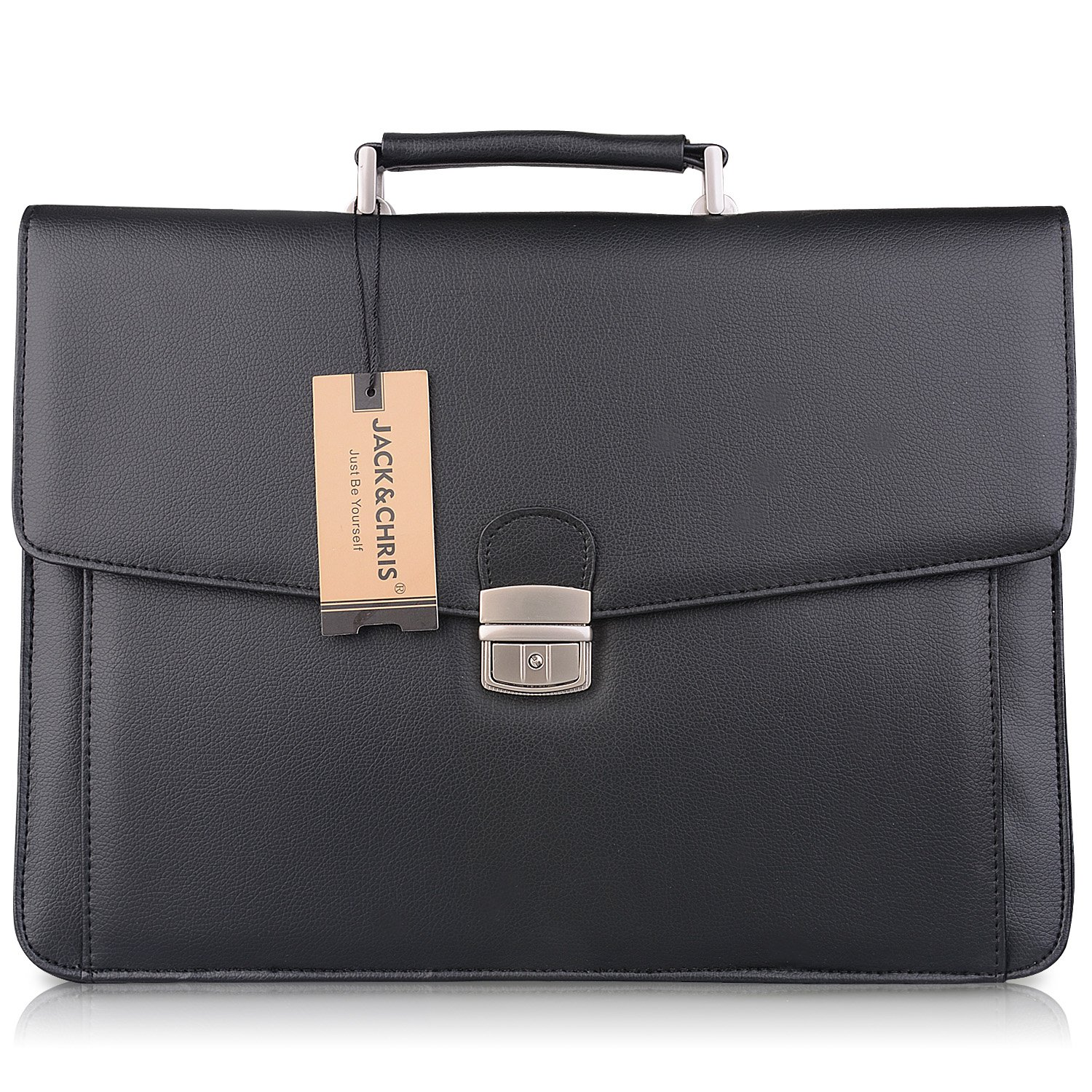 Jack&Chris®New PU Leather Briefcase Messenger Bag Laptop Bag, MBYX012:  Amazon.co.uk: Luggage