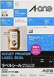 エーワン ラベルシール インクジェット 超耐水 光沢紙 12面 10枚 64212