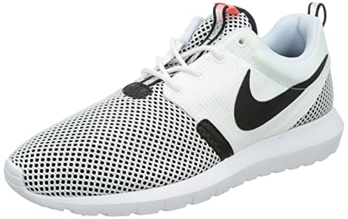 new arrival bc3bf abc10 Nike Mens Rosherun NM Breeze Running Natural Motion Gym Trainers Shoes -  White Black -