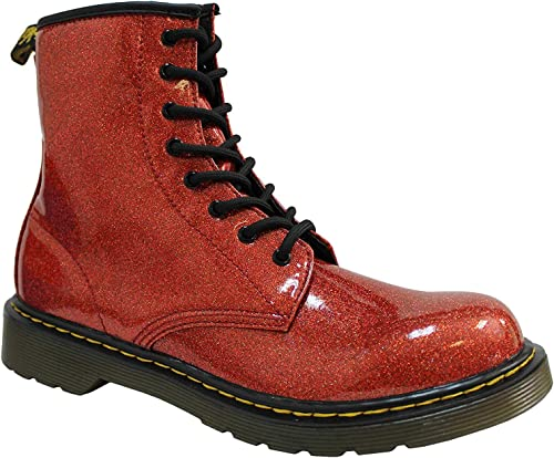 Dr Martens 1460 PASCAL FLAME GLITTER CowboyBiker boots