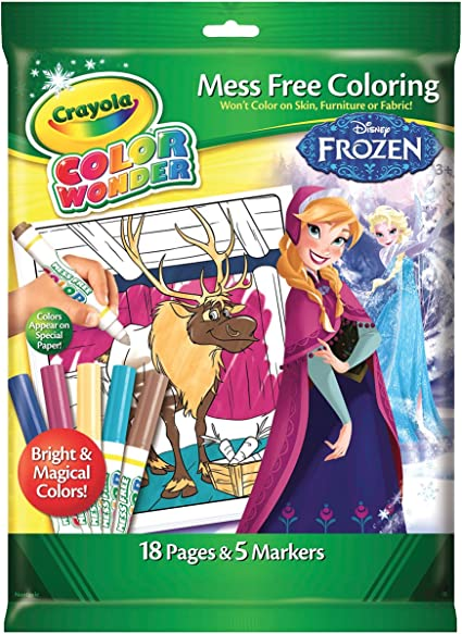 Amazon Com Crayola Frozen Color Wonder Overwrap Toys Games