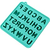 Ice Cube Tray Molds Silicon Alphabet Ice Cube Tray