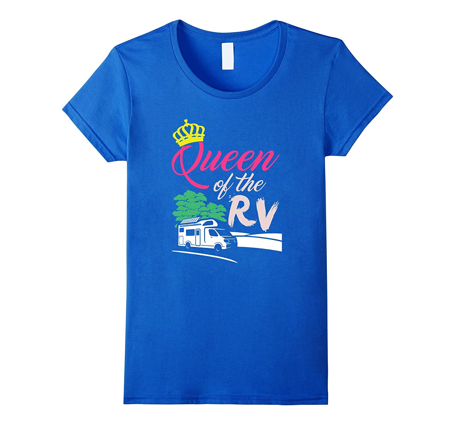 Queen of the RV Camper Vacation T-Shirt-Art