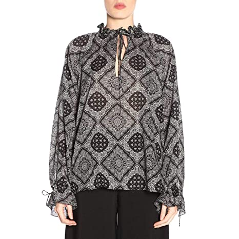 1c6e3c013c6bad Saint Laurent Women s 548473Y831J1004 Black Silk Blouse  Amazon.ca  Sports    Outdoors