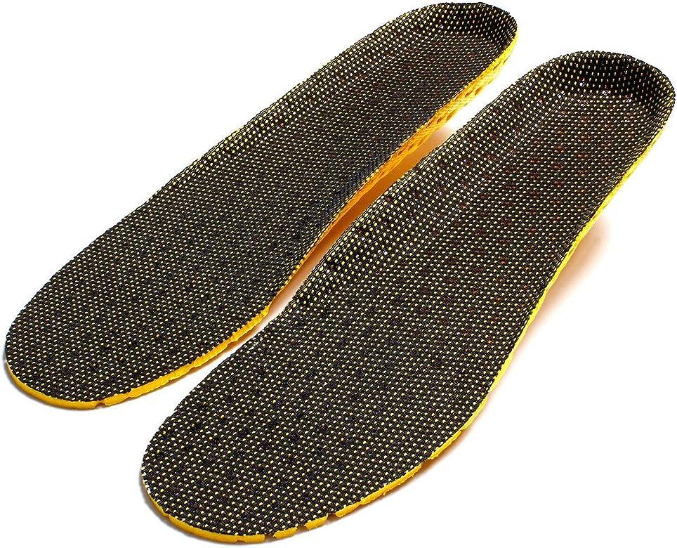 Pudincoco Absorción de golpes Paño de red Zapatilla Desodorante Deporte Correr Plantillas transpirables Cojín de inserción universal para hombres Mujeres (negro y amarillo): Amazon.es: Zapatos y complementos