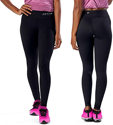Active Research Women's Compression Pants - Athletic Tights w/Hidden Pocket  at Amazon Women's Clothing store