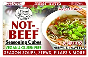 Edward & Sons Bouillon Cubes, 3.1 Boxes, Not-Beef 3.1 Ounce (Pack of 12) 37.2 Ounce (Packaging May Vary)