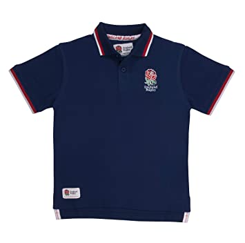 69cf72b9a0e England Rugby Children's Classic Pique Polo: Amazon.co.uk: Sports ...