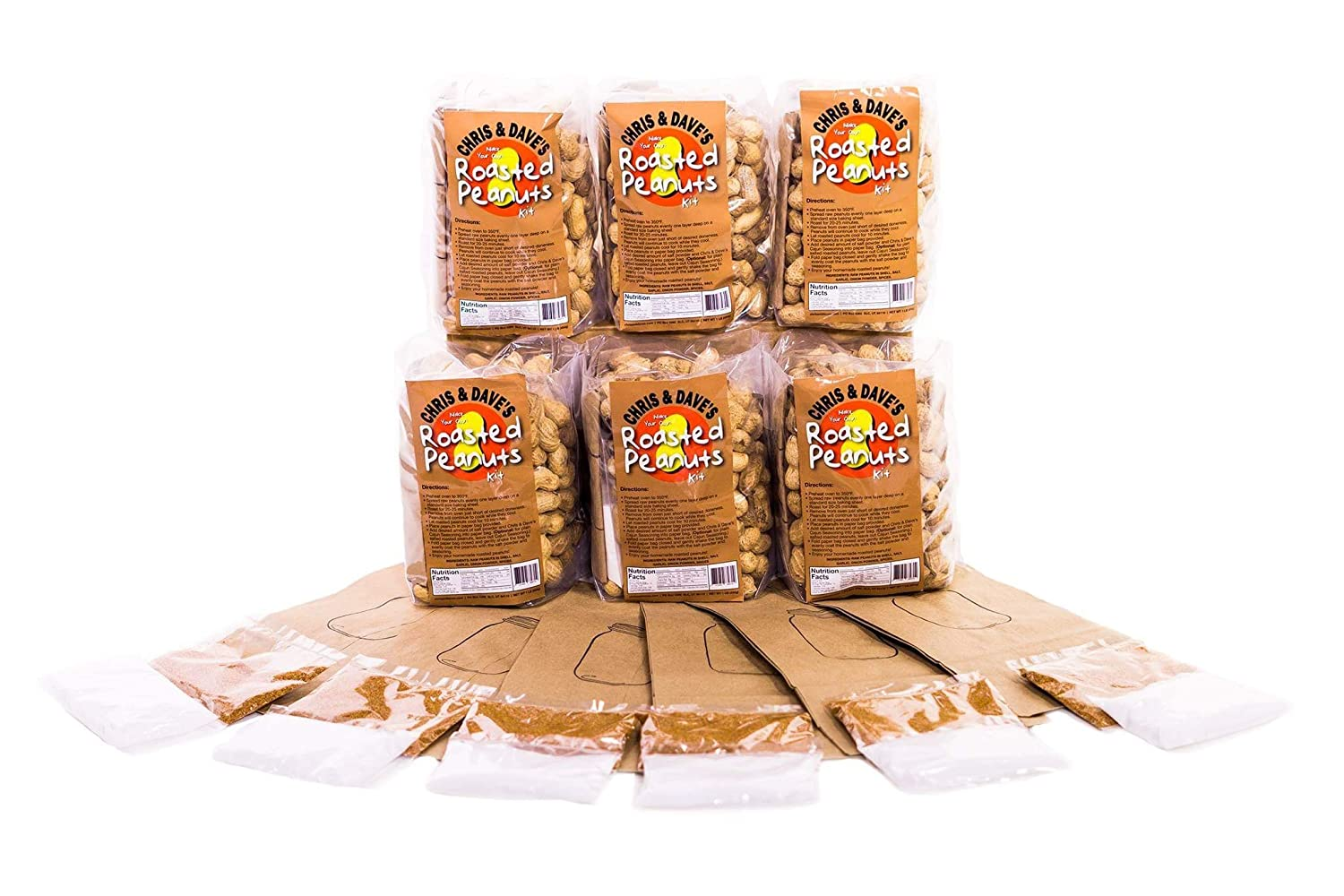 Amazon.com : Make Your Own Roasted Peanuts Kit- 6 Pack : Grocery & Gourmet Food