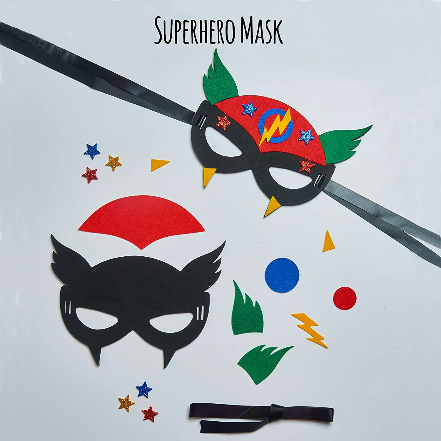 Make a Cape Best Gift for Boys Ages 5 6 7 8 Years Mask and Cuffs 3 Craft Projects in 1 Box jackinthebox Superhero DIY Dress up Art and Craft Kit