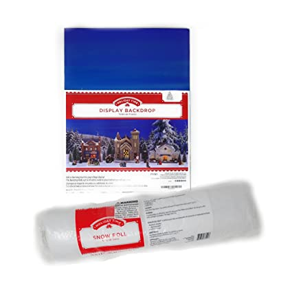 amazon com holiday display backdrop and snow roll bundle use with