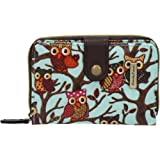 SwankySwans Classic Tree Owl Small Wallet in Light blue