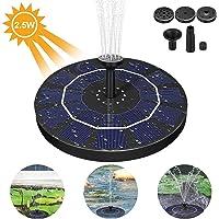 AIMTOP Solar Fuente Bomba, 2.5W Bomba de Fuente Solar Fuente Flotante con 4 Boquillas, Bomba Estanque Solar Ideal para Pequeño Estanque, Baño de Aves, Fish Tank, Decoración del Jardín