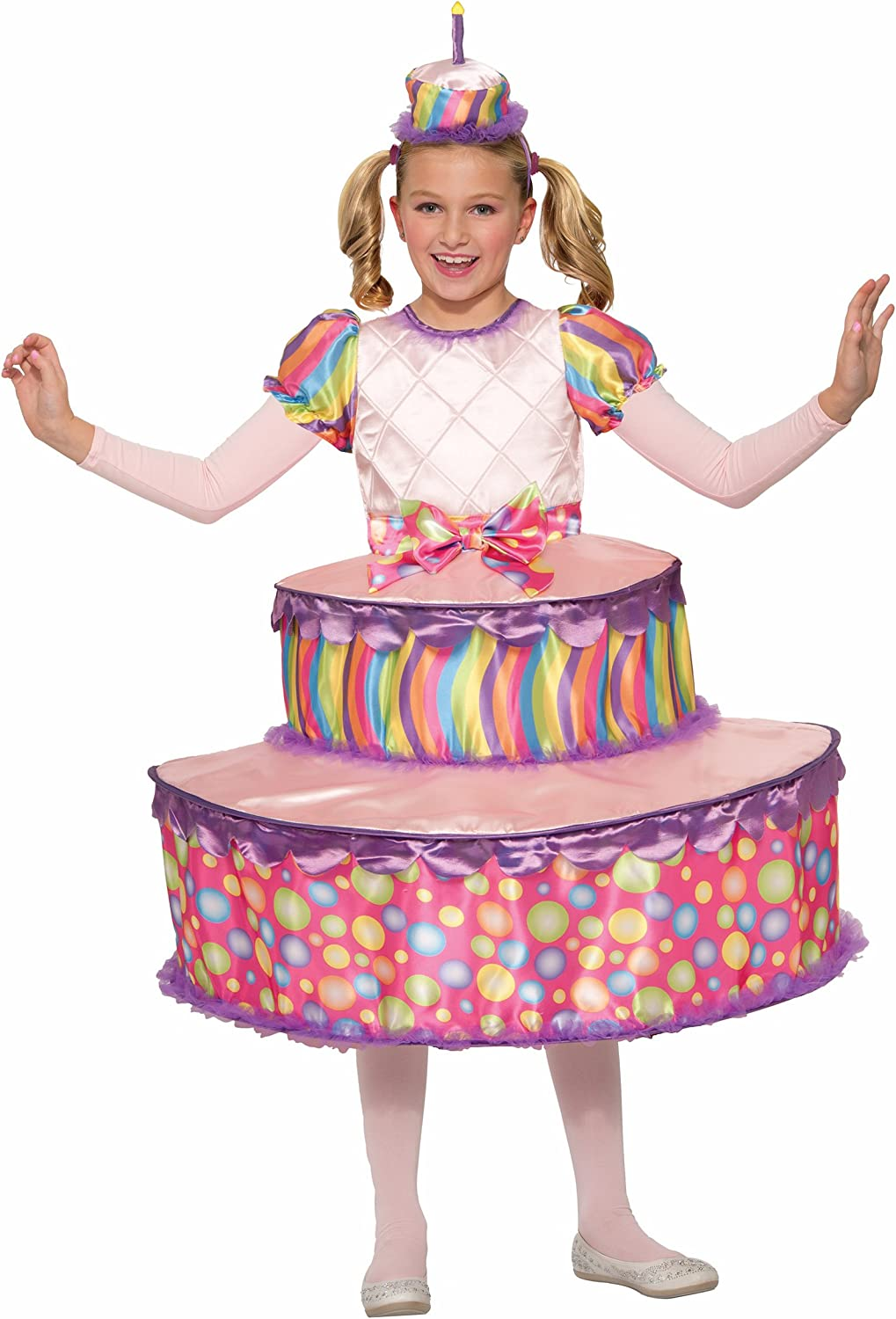 Superb Amazon Com Forum Novelties Kids Birthday Cake Costume Pink Funny Birthday Cards Online Barepcheapnameinfo