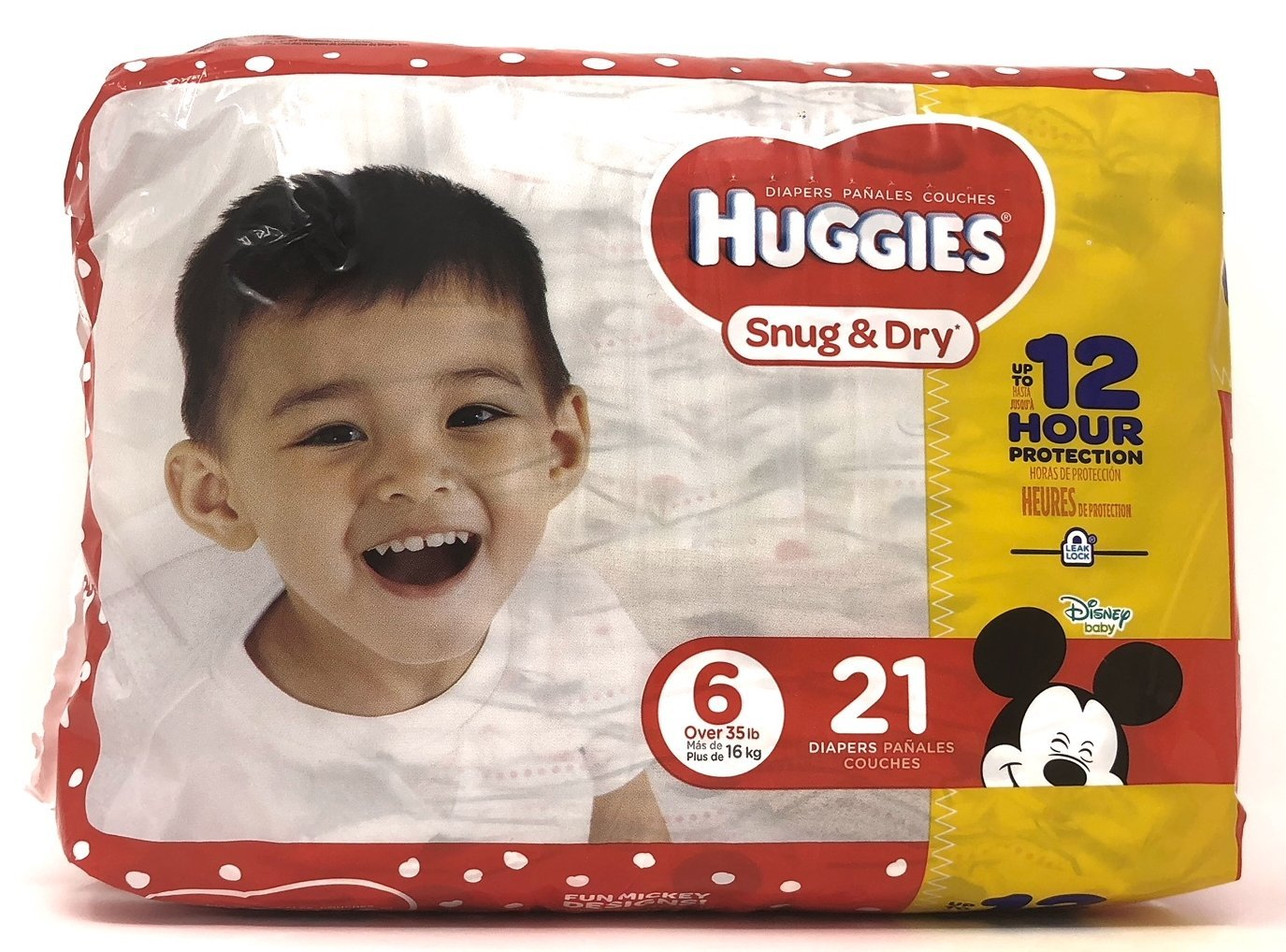 Diaper/Baby Wipe Travel Pack Bundle | Includes Huggies Snug & Dry Size 6 Disposable Diapers (21 Count) and Simply Clean Baby Wipes Resealable Container (32 Count) by Snug & Dry (Image #2)