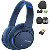 Sony WH-CH700N Wireless Noise Canceling Headphones, Blue (WHCH700N/L) w/Case & Bluetooth Adapter