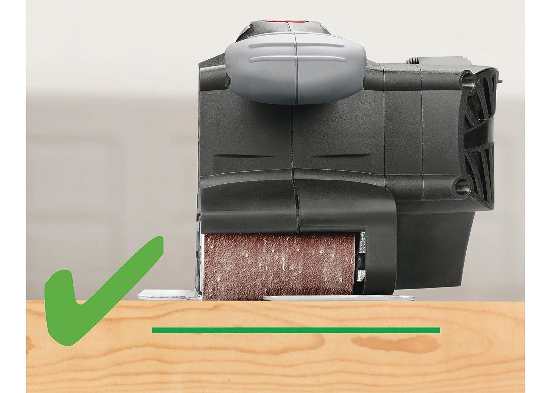 Der Einsatz eines Schleiframens bei einer Bandschleifmaschine
