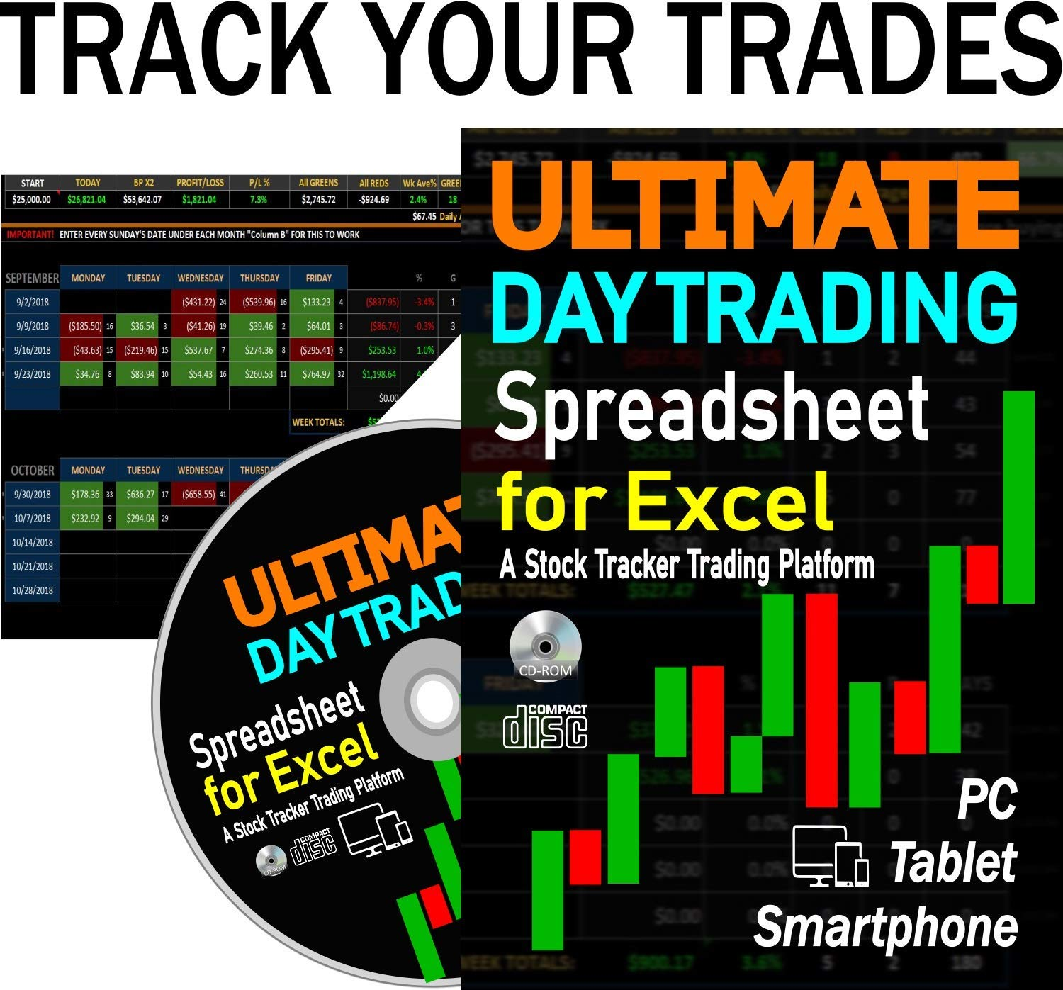 ULTIMATE Day Trading Spreadsheet for Excel. A Stock Trading Tracker Platform That Helps You Analyze Your Trades, View Performance and Improve by FirePrices