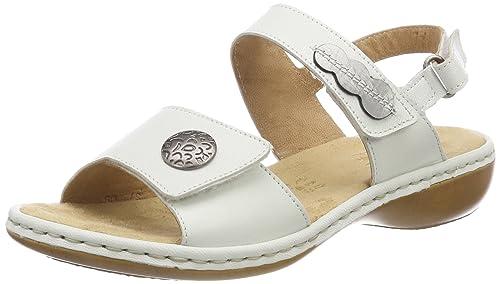 Womens 659z3 Closed Toe Sandals, White Rieker