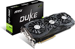 MSI Gaming GeForce GTX 1080 Ti 11GB GDRR5X DirectX 12 352-bit VR Ready Graphics Card (GTX 1080 TI Duke 11G OC) (Renewed)