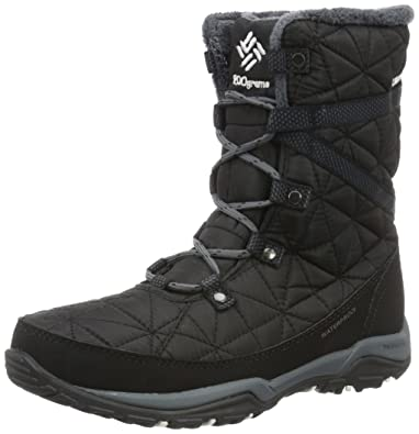 Columbia Women's Loveland Mid Omni-Heat Snow Boot, Black/Sea Salt, 5