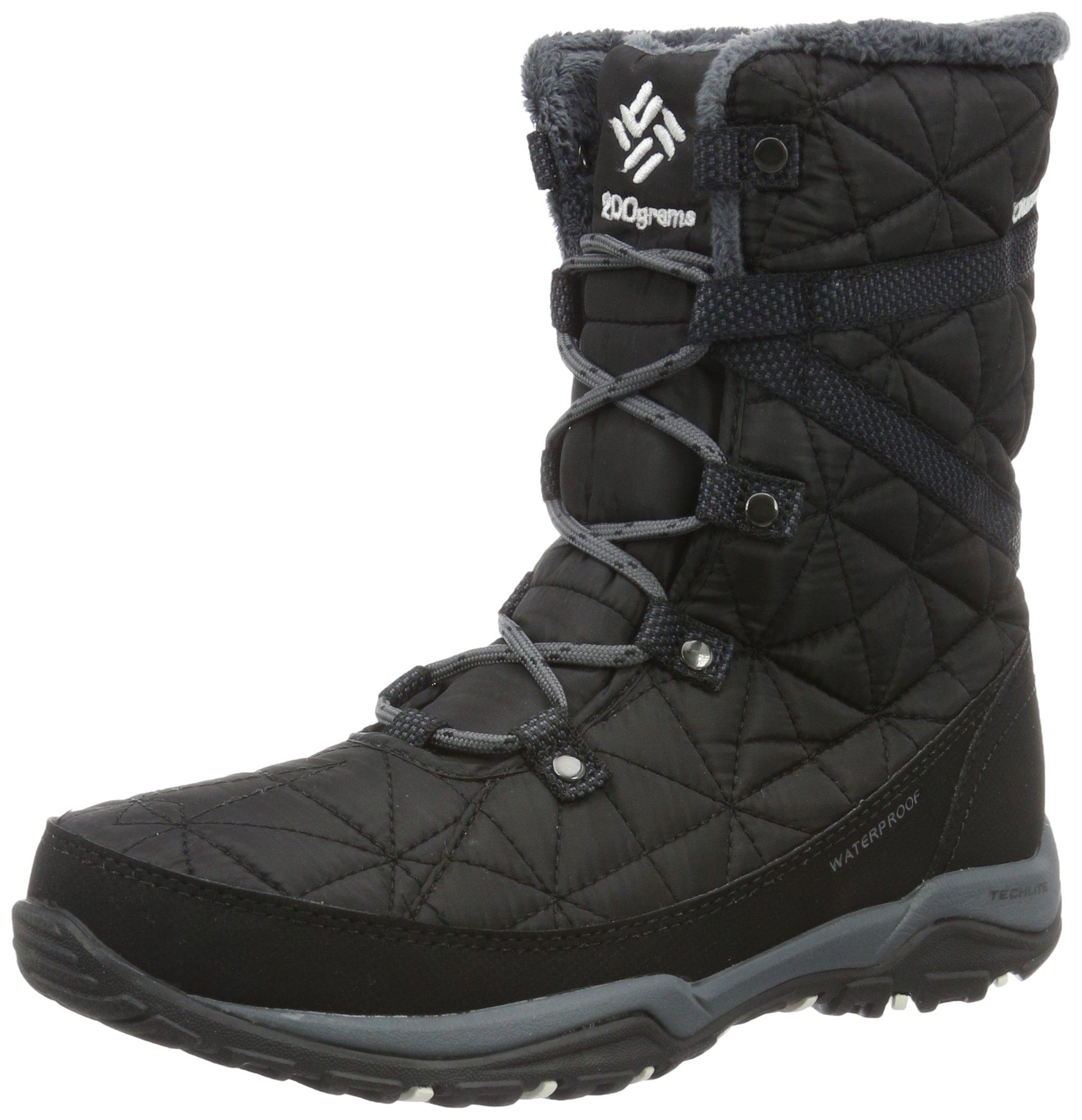 Columbia Women's Loveland Mid Omni-Heat Snow Boot, Black/Sea Salt, 9 B US