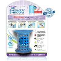 """ShowerShroom The Revolutionary 2"""" Stand-Up Shower Stall Drain Protector Hair Catcher/Strainer Blue"""