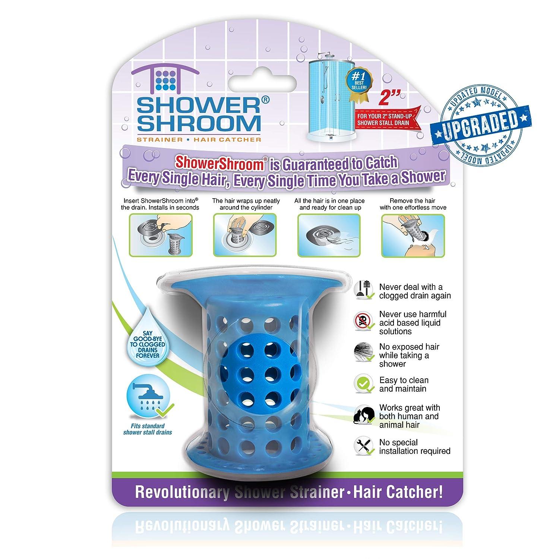 Gray Juka Innovations SHGRA727 ShowerShroom the Revolutionary 2 Stand-Up Shower Stall Drain Protector Hair Catcher//Strainer