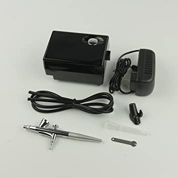 htdirect - Kit de aerógrafo con compresor aire cepillo ...