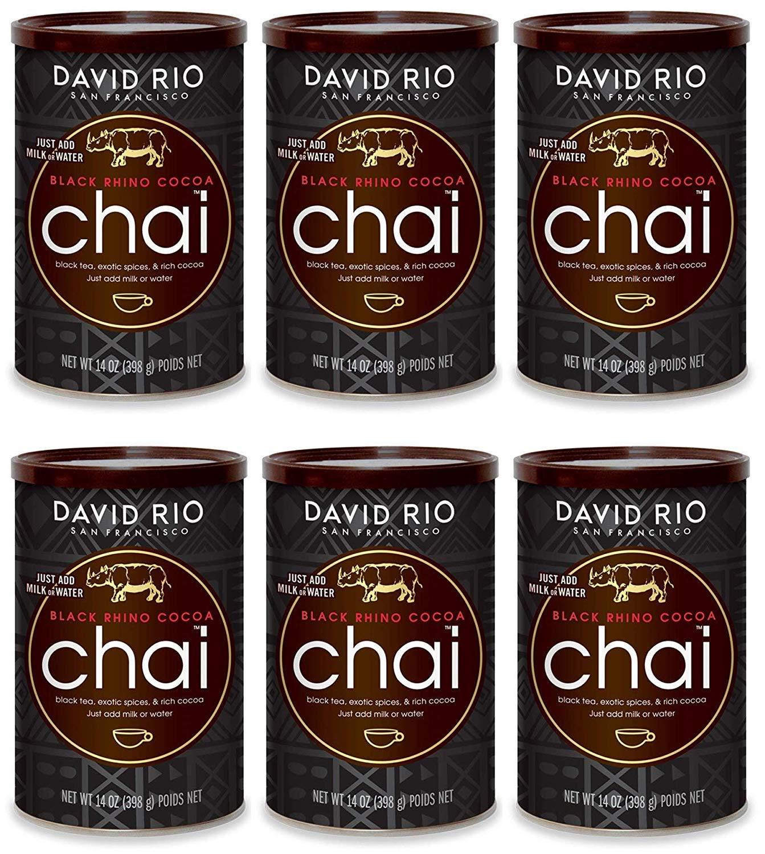 David Rio Black Rhino Cocoa Chai, 14 oz Can (Pack of 6)