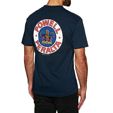 Powell - Camiseta - para Hombre Azul Azul Marino S