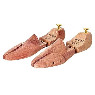 16fa4e3a3b7df1 Lumaland hochwertiger Schuhspanner mit Doppelfederung Unisex Beige  Schuhdehner Holz Halbschuhe Stiefel 40 41