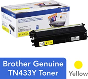 Brother Genuine High Yield Toner Cartridge, TN433Y, Replacement Yellow Toner, Page Yield Up To 4,000 Pages, Amazon Dash Replenishment Cartridge, TN433
