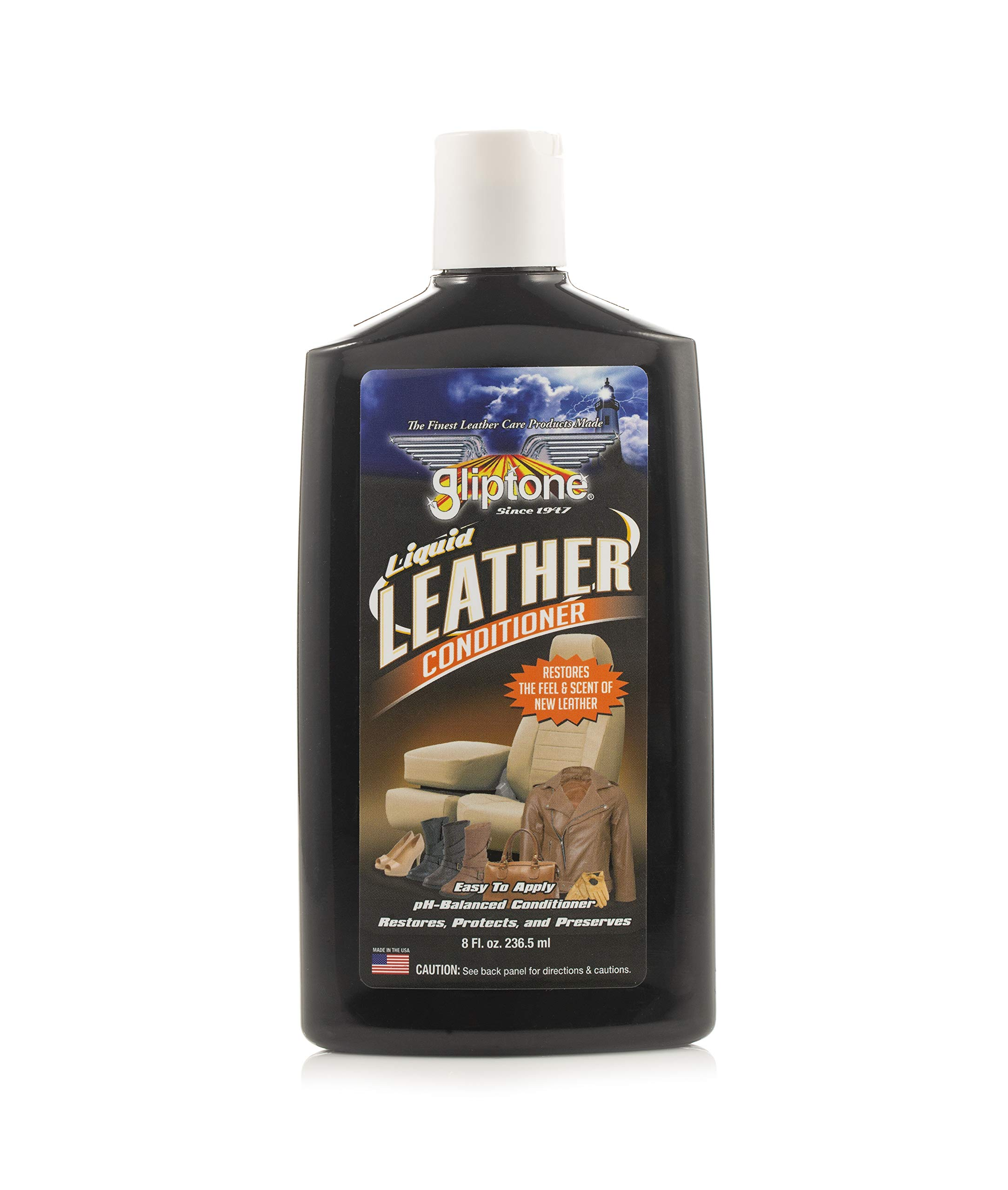 Gliptone GT1108 Leather Conditioner, Natural Leather Scent, Liquid Leather Conditioner, Leather Care 236.5ml (8 OZ)