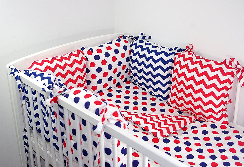 17 b Babys Comfort 8 PCS BABY BEDDING SET pillow bumper /& duvet cover /& pillowcase