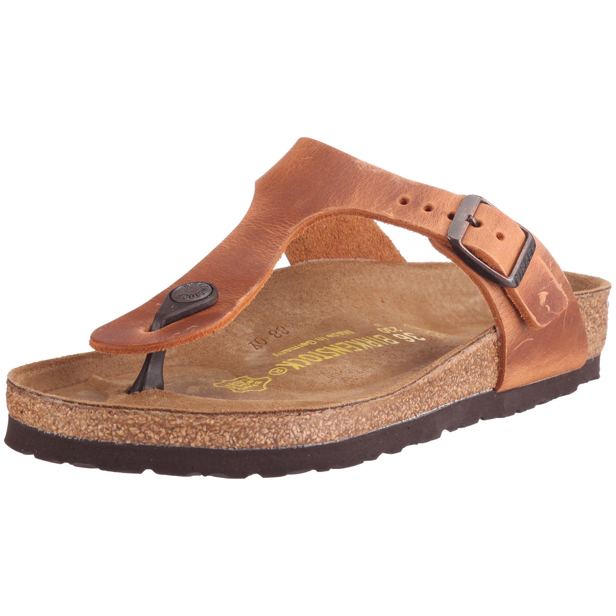 Birkenstock Women's 743781 Style Gizeh Sandal, Antik Brown, 38