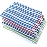 "Honla Cotton Striped Kitchen Towels,Set of 4 in 4 Assorted Color,18"" x 25"" Dish Towels for Cleaning,Cooking,Baking,Machine Washable"
