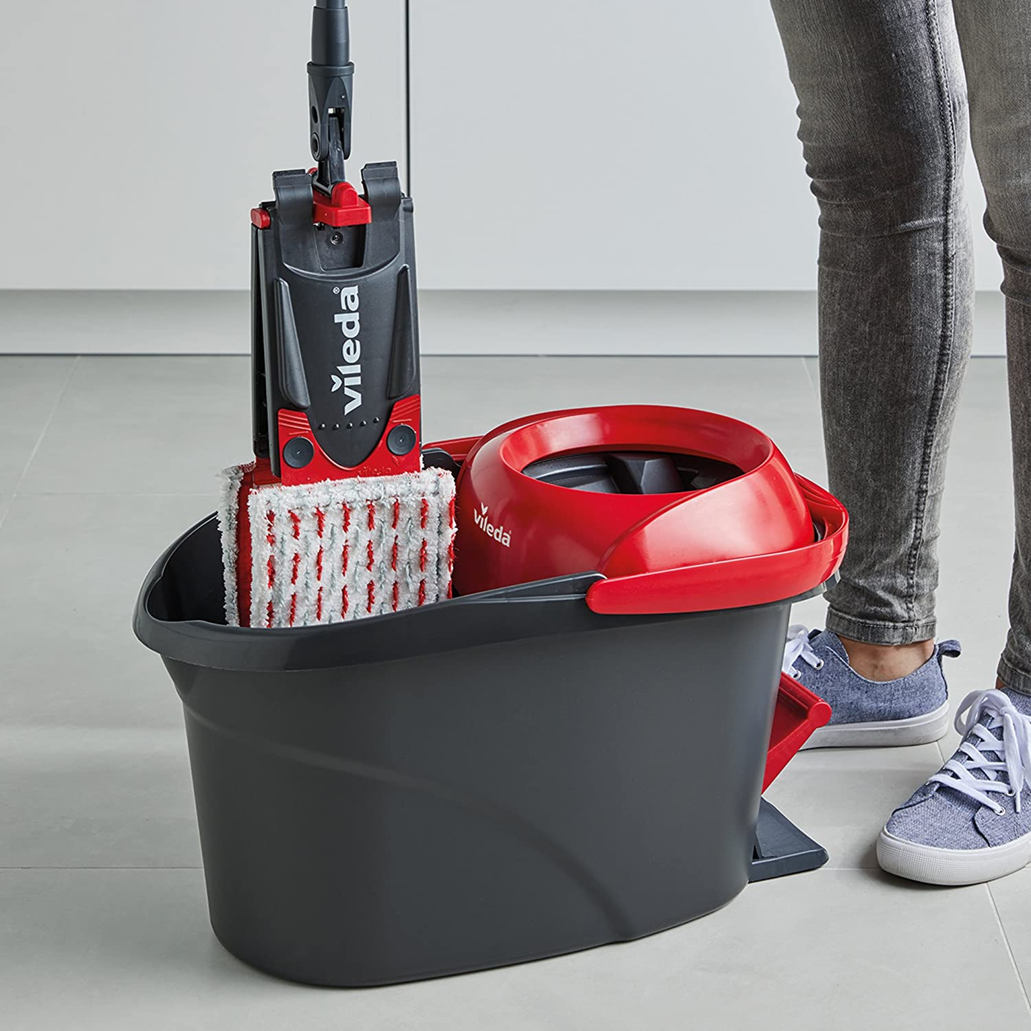 Amazon.com: Vileda Ultramat Turbo Flat Mop and Bucket Set: Kitchen & Dining