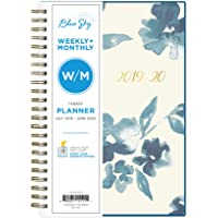 "Blue Sky 2019-2020 Academic Year Weekly & Monthly Planner 5"" x 8"""