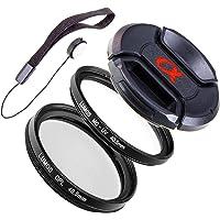 LUMOS Filter Set 40,5mm passt zu Sony E-Mount 16-50mm Standard- Objektiv z.B. an Alpha 6000 6300 6500 5000 | Polfilter UV-Filter Objektivdeckel